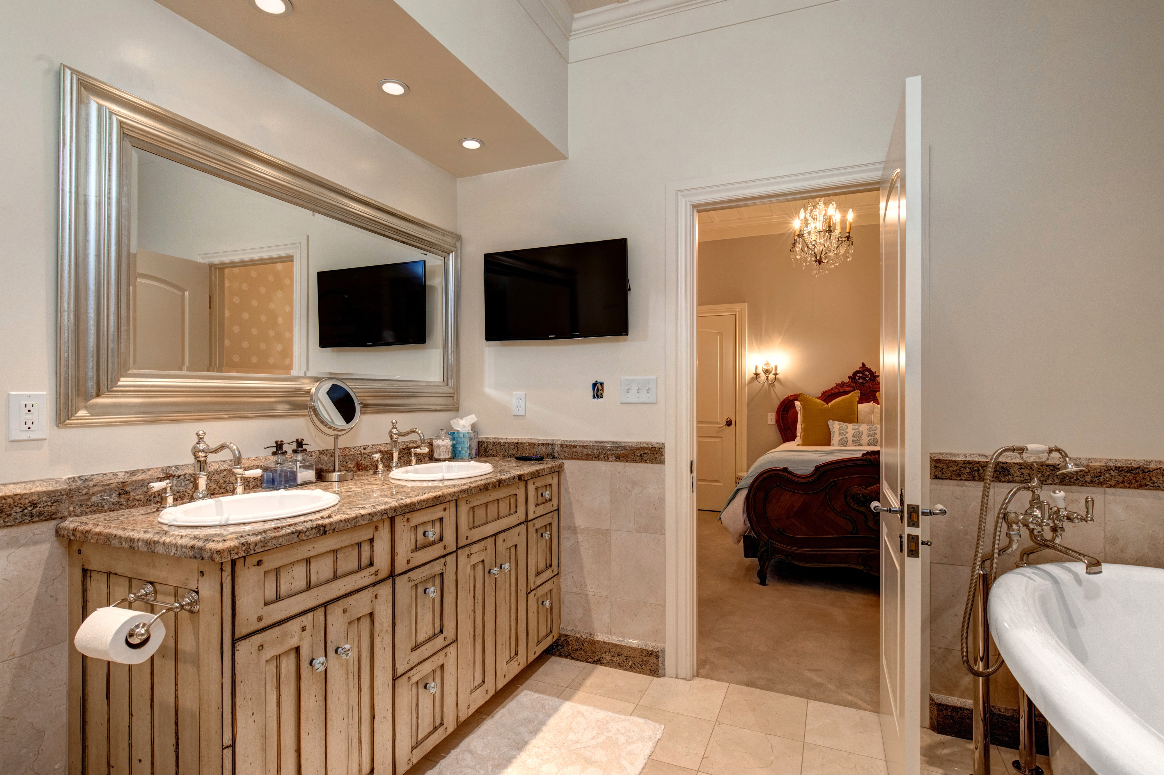 Abode luxury rentals park city heirloom house interior master bathroom 1 2