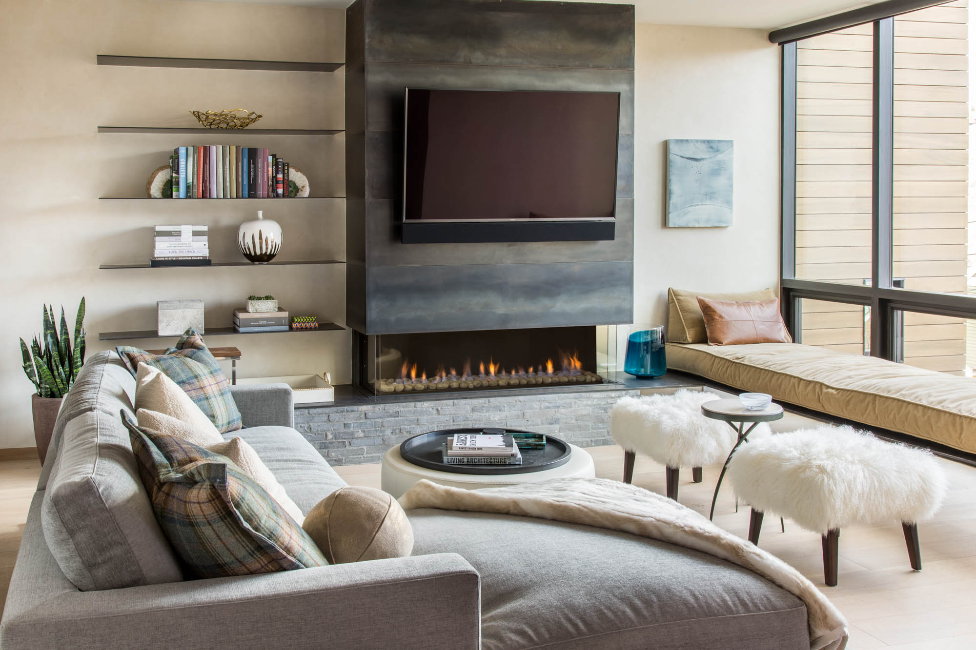 Suite B Living Room At The Mike Mueller Residence In Park City Utah Architecture And Interior Design By Oz Architects