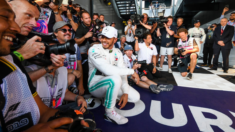 Lewis Hamilton takes pole as Mercedes speed stuns rivals
