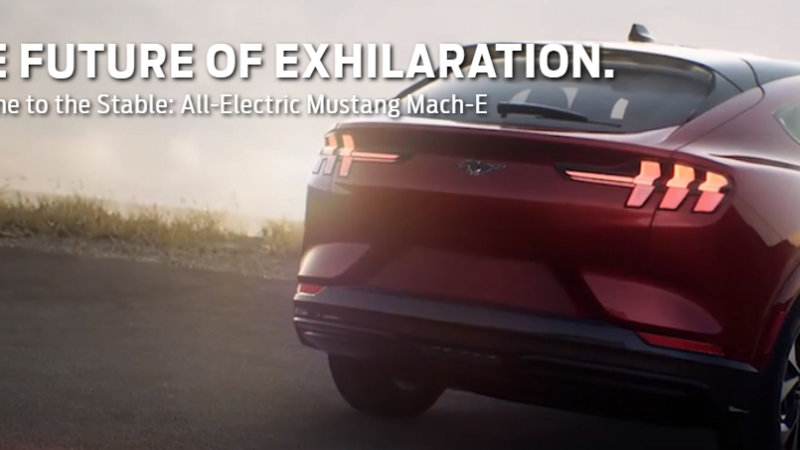 Ford Mustang Mach-E web landing page leaks with specs, prices, details