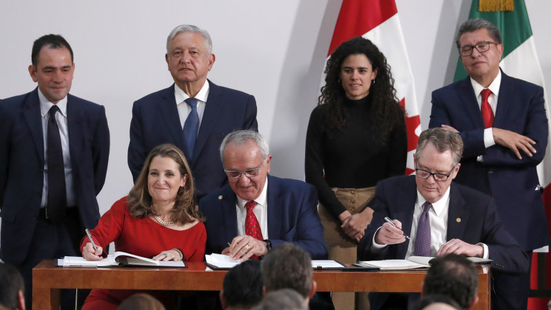 U.S., Canada, Mexico sign USMCA trade agreement to replace NAFTA