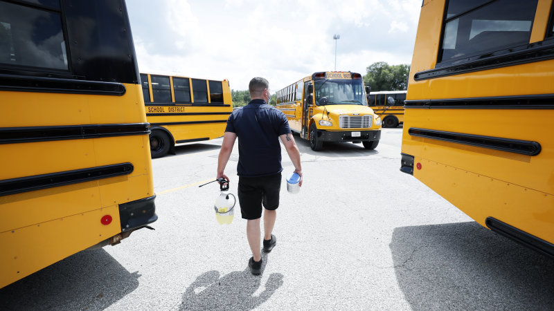 School buses are another potential coronavirus question mark