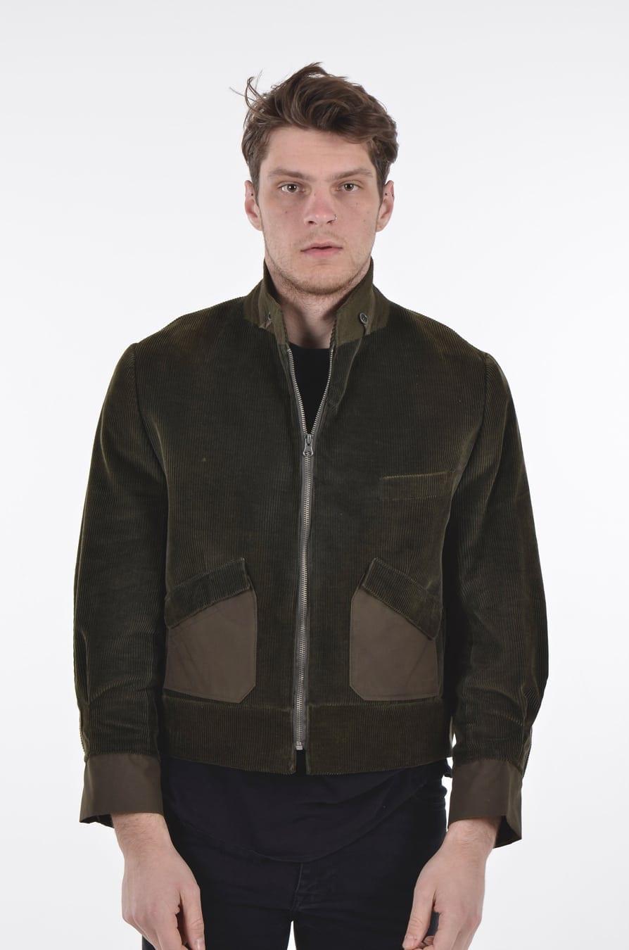 Vintage corduroy bomber jacket