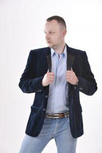 Vintage velvet evening jacket