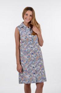 Vintage paisley shift dress