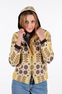 Vintage tapestry hooded coat