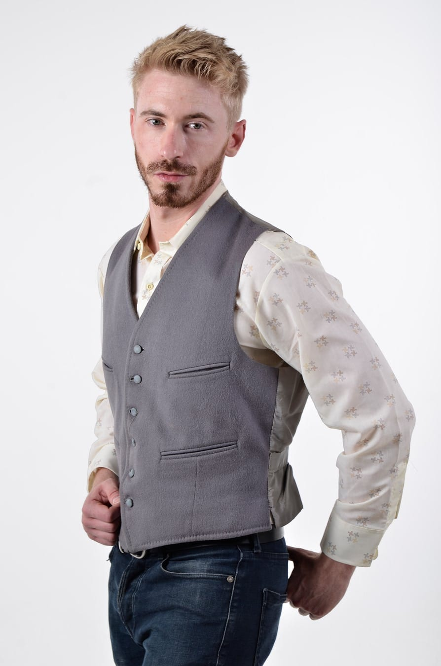 Vintage Dunn /& Co wool vest sweater waistcoat button up with pockets size M