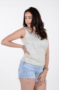 Vintage 1960's sequin vest top