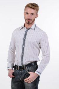 Men's 1970's striped shirt