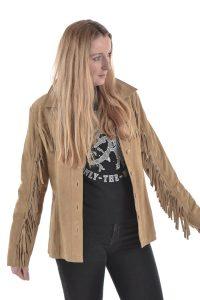 Vintage women's suede jacket