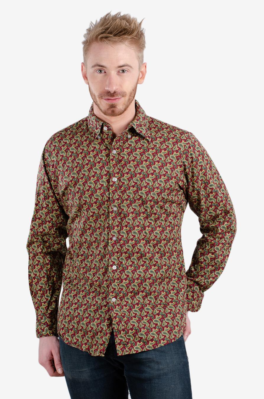 Vintage 1980's paisley shirt