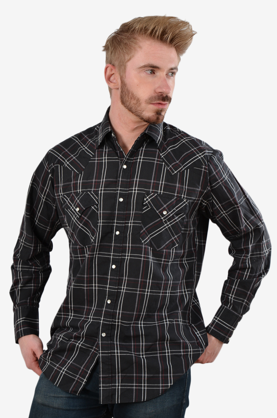 Vintage plaid western shirt