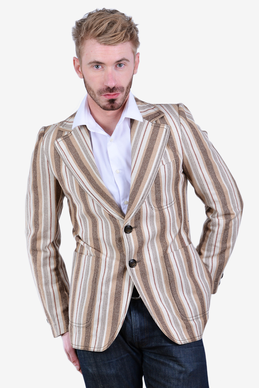 Vintage striped boating blazer