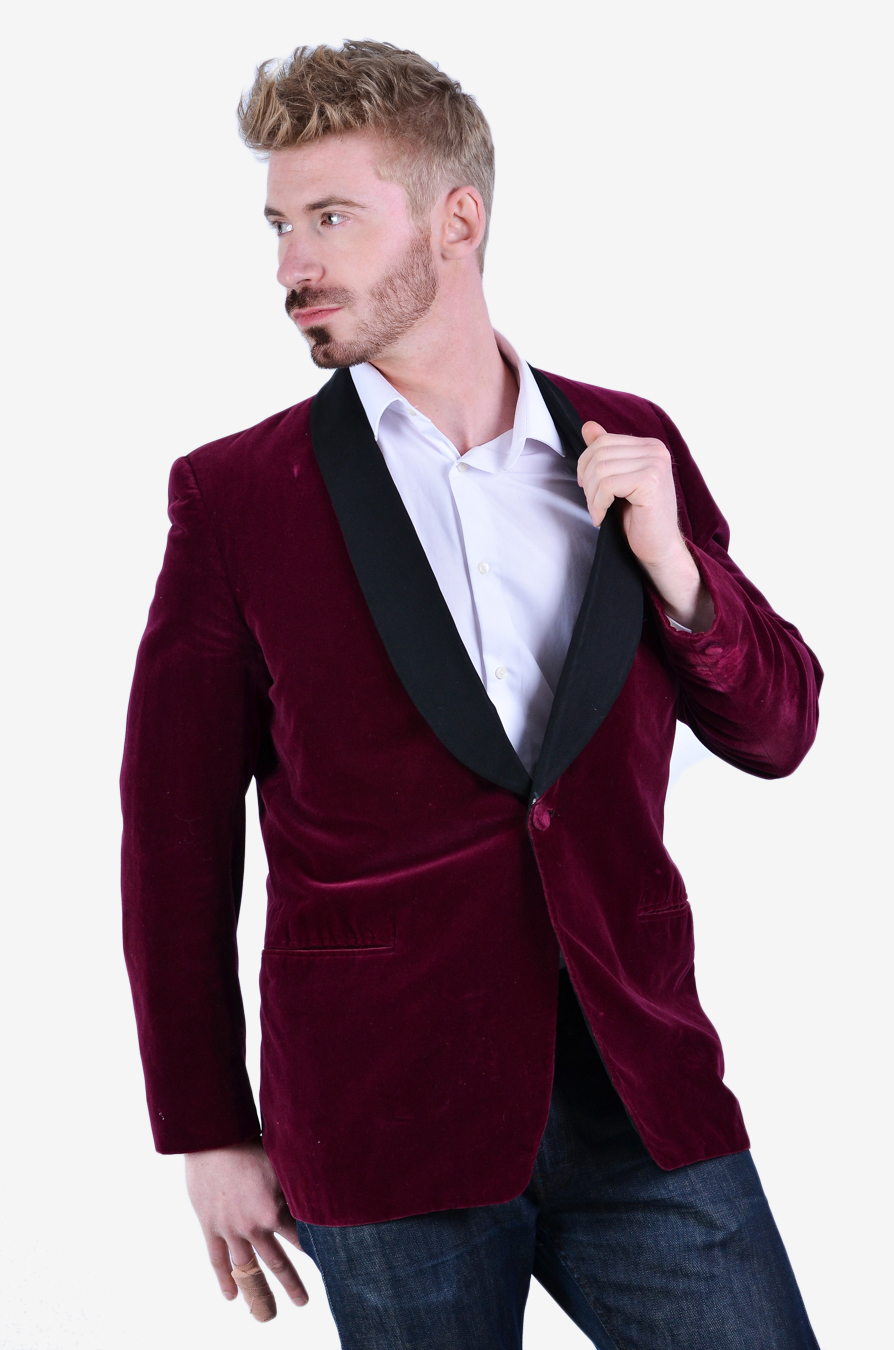 Vintage Gieves Ltd velvet evening jacket