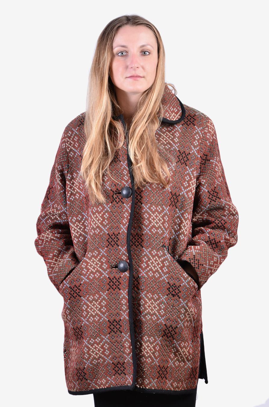 Vintage women's handmade coat