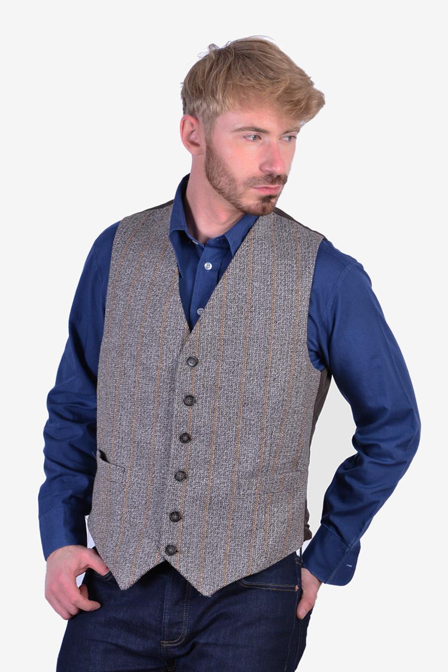 Vintage men's tweed waistcoat
