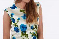 Vintage 1950's floral blouse