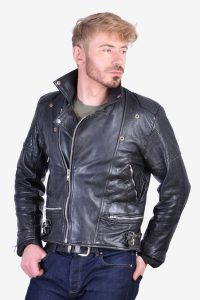 Vintage 1980's leather biker jacket