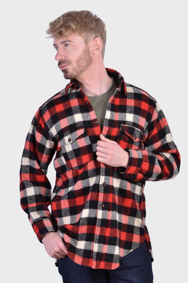 Vintage check wool shirt
