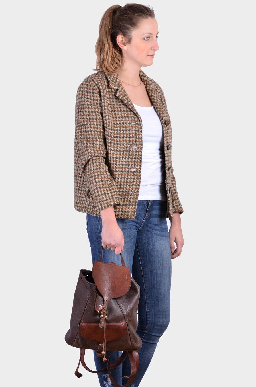 Vintage Anaco leather rucksack