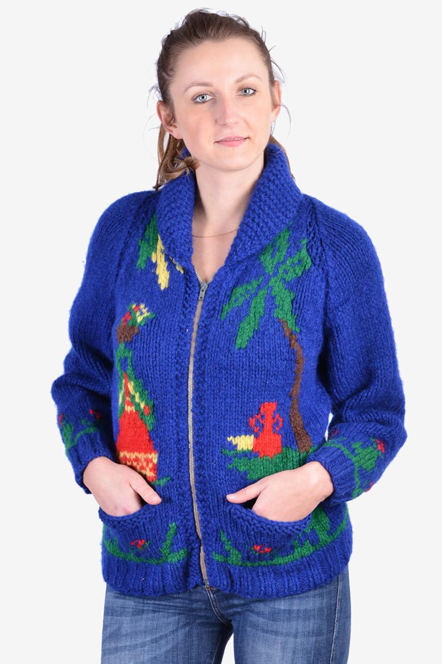 Women's Cowichan style cardigan