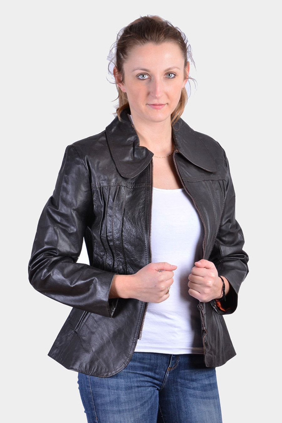 Women's 1970's leather jacket