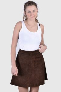 Vintage 1970's suede mini skirt