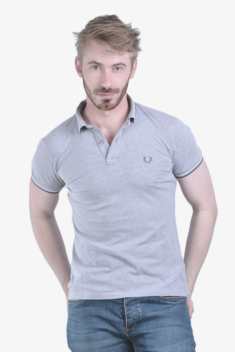 Vintage Fred Perry grey polo shirt