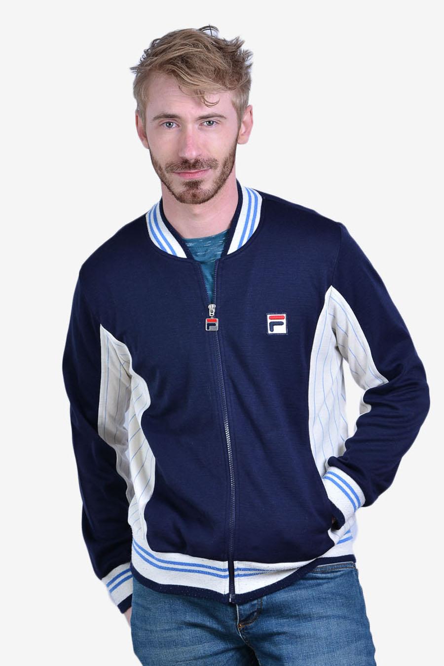 Vintage Fila White Line track jacket
