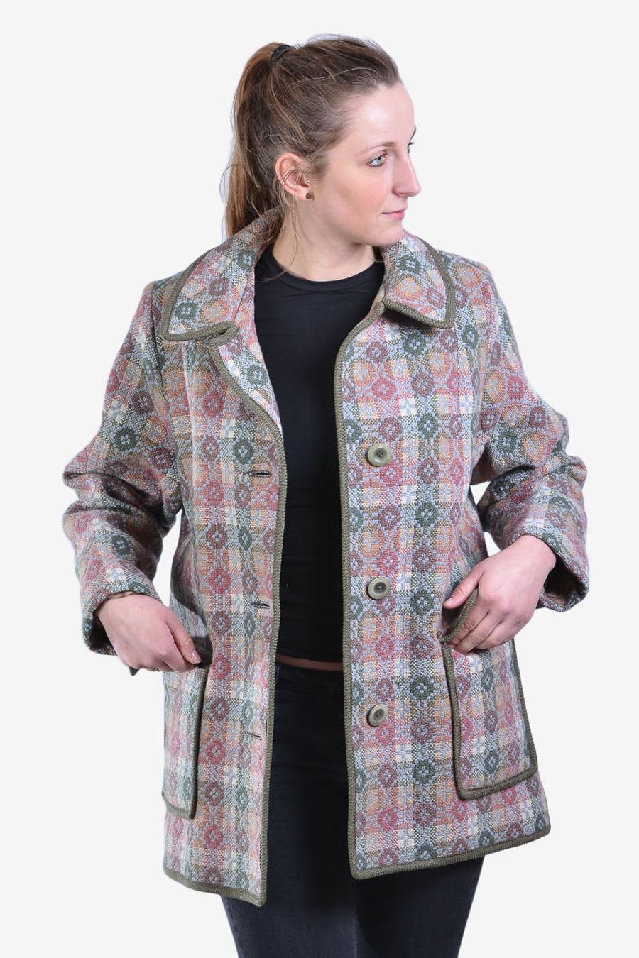 Vintage 1960's Welsh Woollens coat