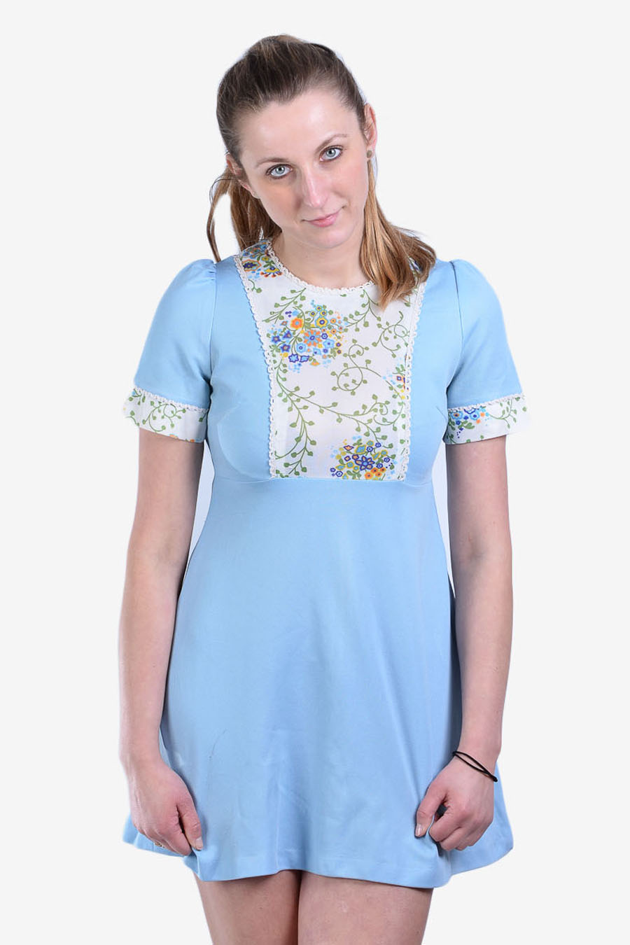 Vintage 1970's babydoll mini dress
