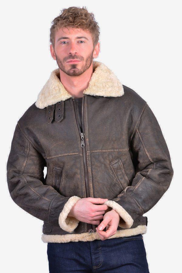 Vintage 1970's B3 type leather jacket