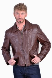 Vintage leather hipster jacket