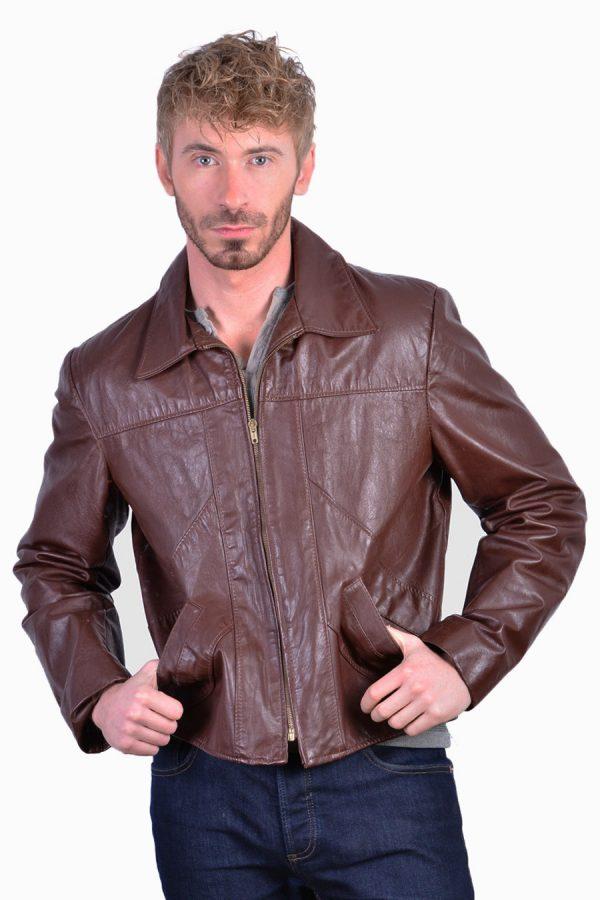 Vintage leather hipster jacket