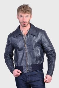 Vintage 1970's leather bomber jacket