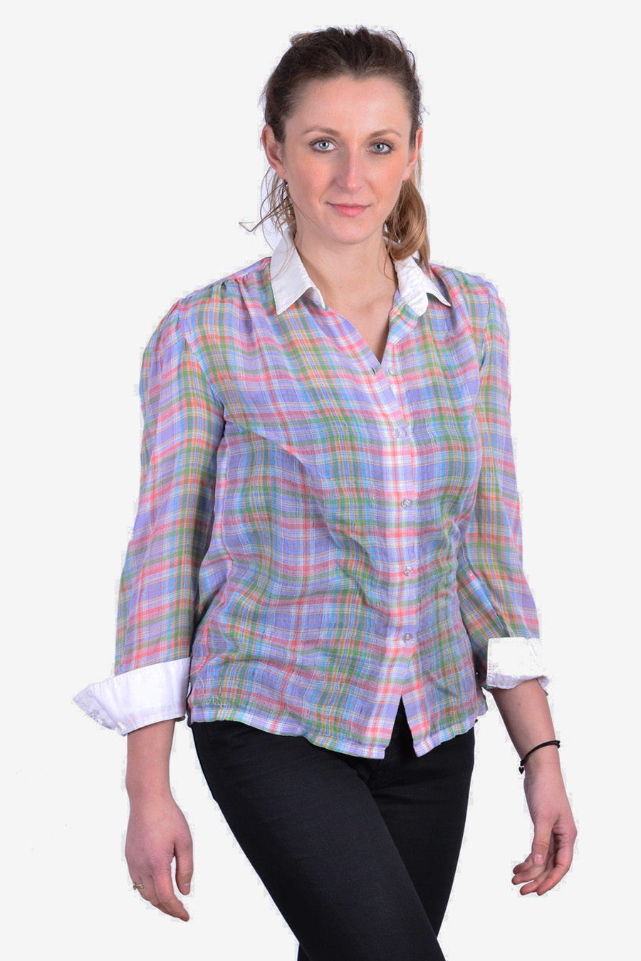Vintage women's plaid shirt