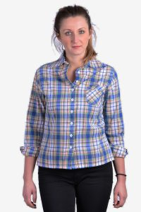 Women's vintage plaid shirt