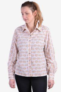 Vintage women's floral shirt