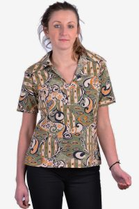 Vintage women's tribal top