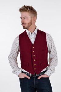 Vintage 1960's burgundy waistcoat
