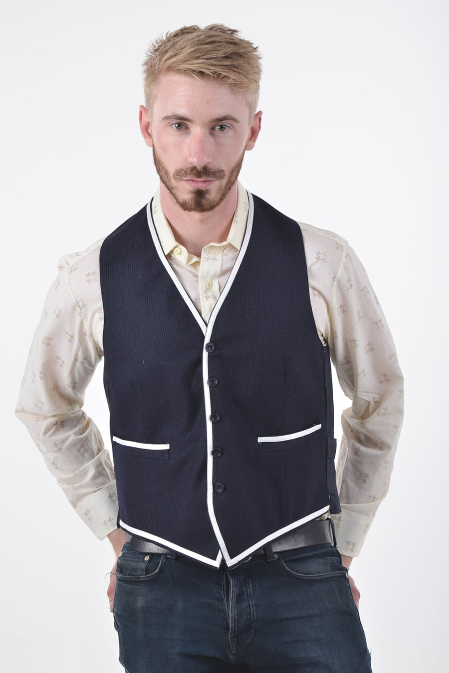 Vintage pinstripe waistcoat