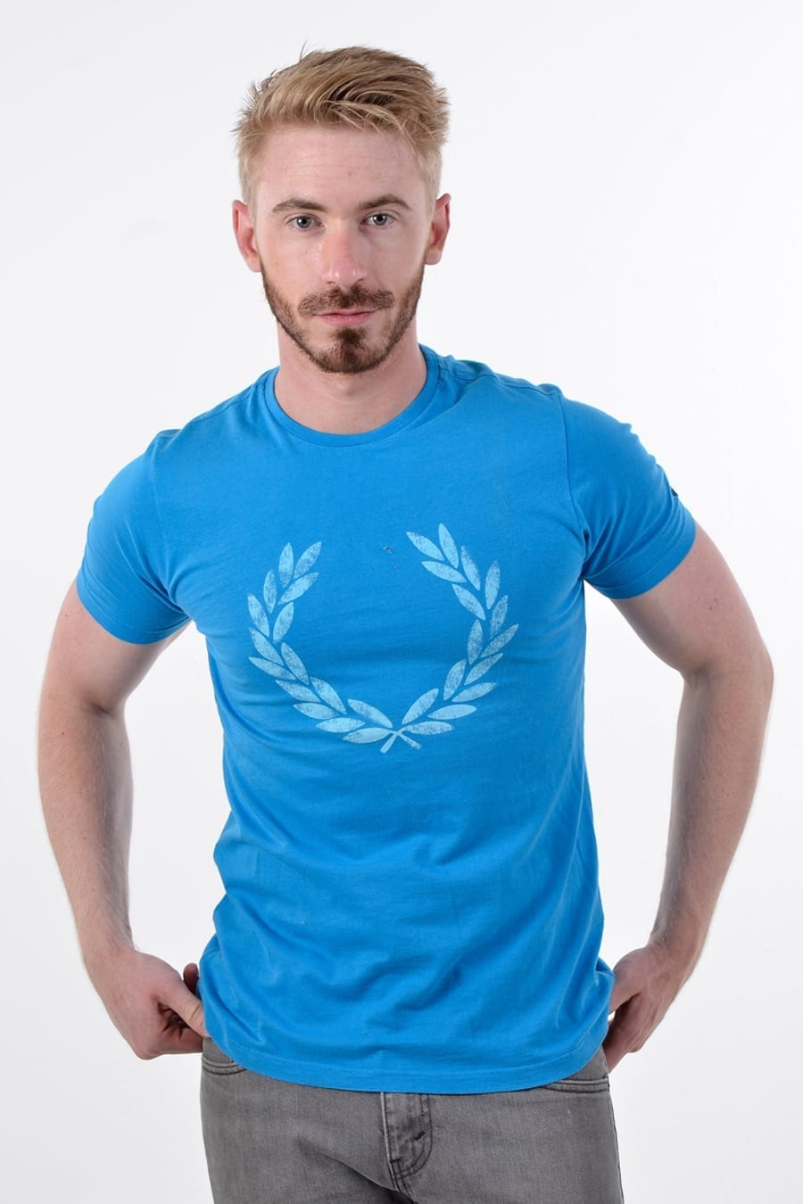 Vintage Fred Perry blue t shirt