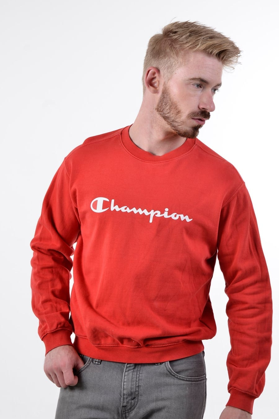 red champion sweatshirt