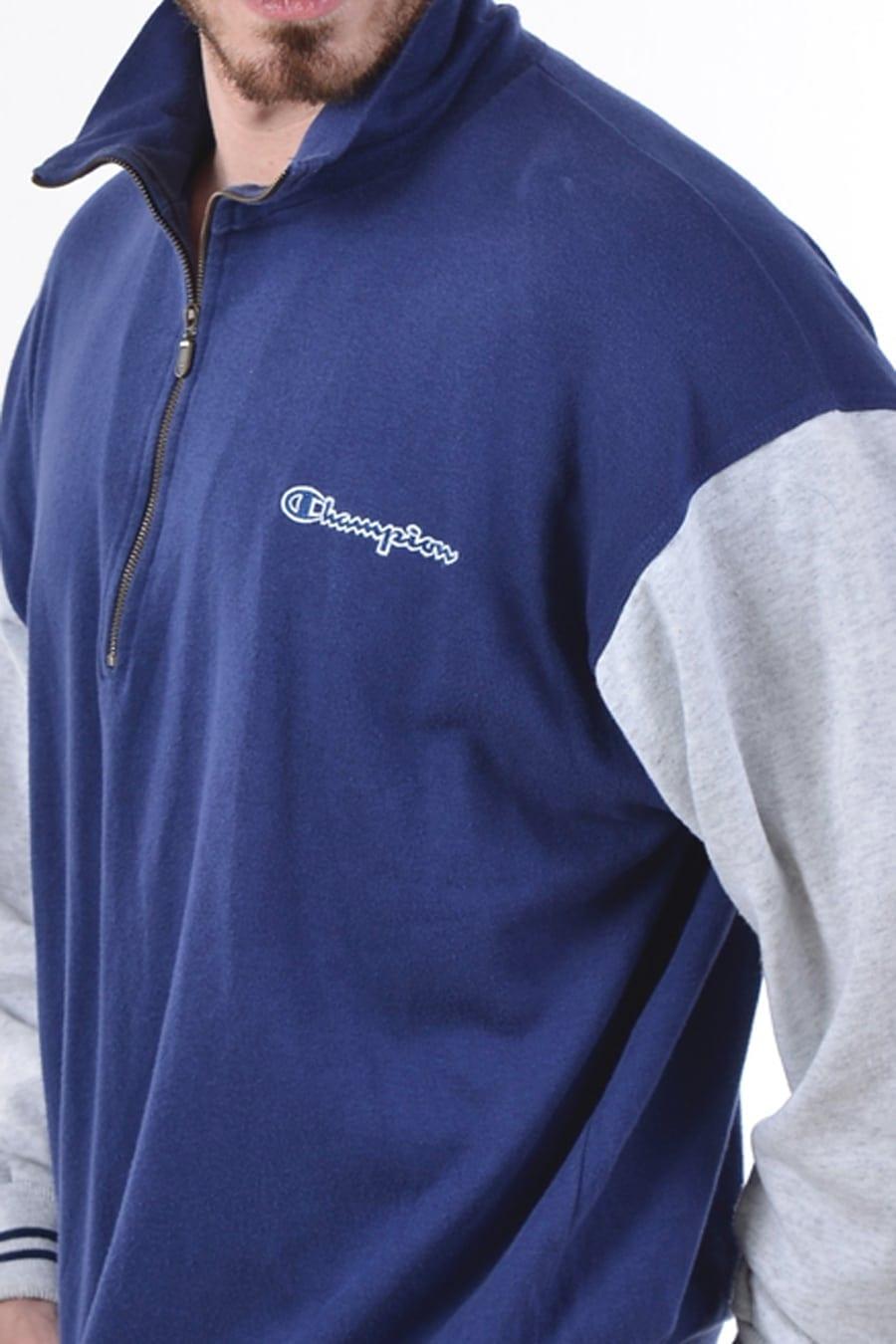 Vintage Champion Blue /& Grey Sweatshirt L www.brickvintage.com