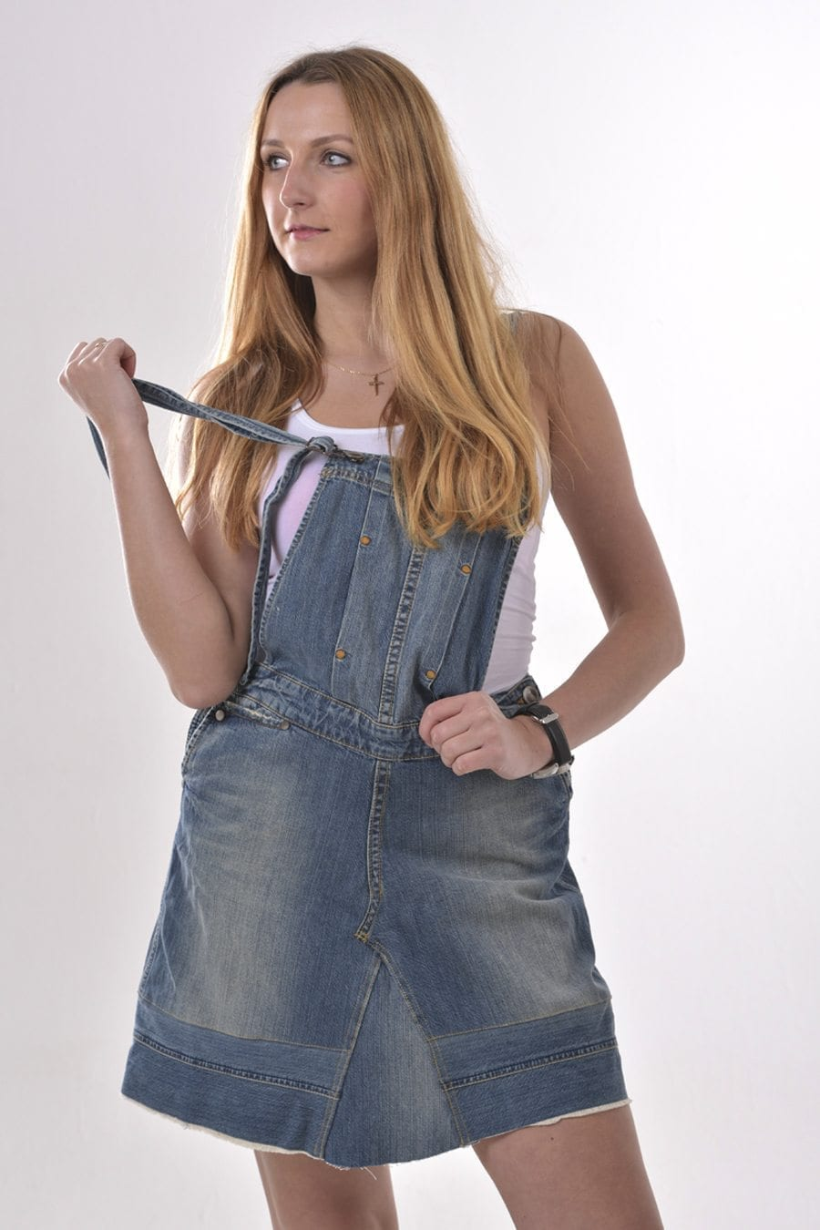 Vintage Wrangler denim pinafore dress
