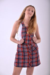 Vintage flannel pinafore dress
