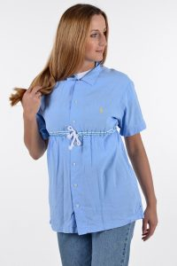 Vintage Ralph Lauren blue smock top