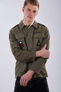 Vintage men's military shacket