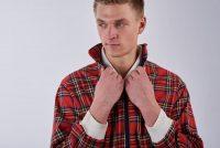 Vintage tartan Harrington jacket