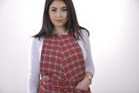 Vintage flannel pinafore dress